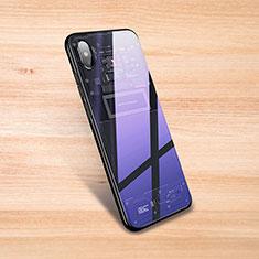 Custodia Silicone Trasparente Specchio Laterale Cover S01 per Xiaomi Mi 8 Explorer Nero