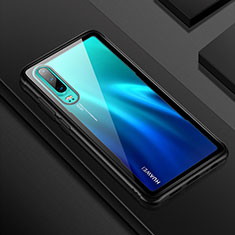 Custodia Silicone Trasparente Specchio Laterale Cover T05 per Huawei P30 Nero