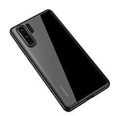 Custodia Silicone Trasparente Specchio Laterale Cover Z01 per Huawei P30 Pro Nero