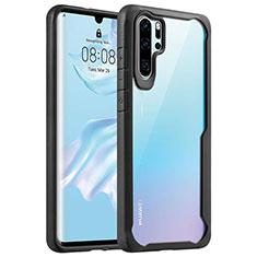 Custodia Silicone Trasparente Specchio Laterale Cover Z02 per Huawei P30 Pro Nero