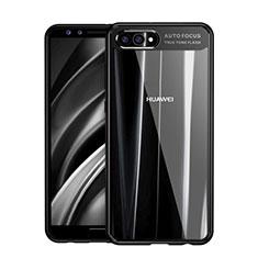 Custodia Silicone Trasparente Specchio Laterale F01 per Huawei Nova 2S Nero