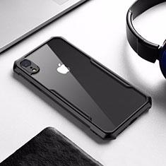 Custodia Silicone Trasparente Specchio Laterale per Apple iPhone XR Nero