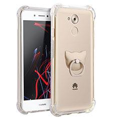 Custodia Silicone Trasparente Ultra Slim Morbida con Anello Supporto per Huawei Enjoy 6S Chiaro