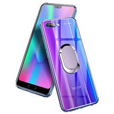 Custodia Silicone Trasparente Ultra Slim Morbida con Anello Supporto per Huawei Honor 10 Chiaro