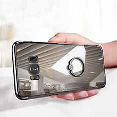 Custodia Silicone Trasparente Ultra Slim Morbida con Anello Supporto per Samsung Galaxy S8 Chiaro