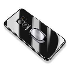 Custodia Silicone Trasparente Ultra Slim Morbida con Anello Supporto per Samsung Galaxy S9 Chiaro