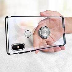 Custodia Silicone Trasparente Ultra Slim Morbida con Anello Supporto per Xiaomi Mi Mix 2S Chiaro