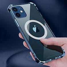 Custodia Silicone Trasparente Ultra Slim Morbida con Mag-Safe Magnetic per Apple iPhone 12 Mini Chiaro