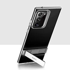 Custodia Silicone Trasparente Ultra Slim Morbida con Supporto per Samsung Galaxy Note 20 Ultra 5G Chiaro