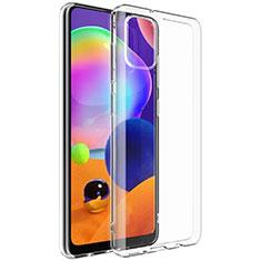 Custodia Silicone Trasparente Ultra Slim Morbida G01 per Samsung Galaxy A31 Chiaro