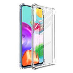 Custodia Silicone Trasparente Ultra Slim Morbida G01 per Samsung Galaxy A41 Chiaro