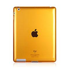 Custodia Silicone Trasparente Ultra Slim Morbida per Apple iPad 2 Giallo