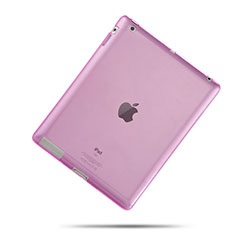 Custodia Silicone Trasparente Ultra Slim Morbida per Apple iPad 3 Rosa