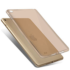 Custodia Silicone Trasparente Ultra Slim Morbida per Apple iPad Mini 4 Oro