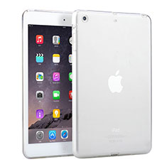 Custodia Silicone Trasparente Ultra Slim Morbida per Apple iPad Mini Bianco