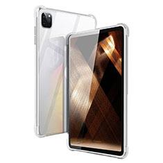 Custodia Silicone Trasparente Ultra Slim Morbida per Apple iPad Pro 12.9 (2020) Chiaro