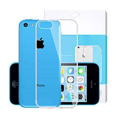 Custodia Silicone Trasparente Ultra Slim Morbida per Apple iPhone 5C Chiaro