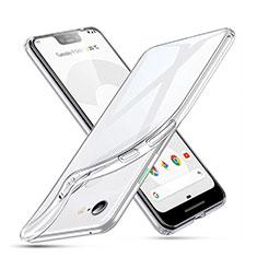 Custodia Silicone Trasparente Ultra Slim Morbida per Google Pixel 3 XL Chiaro