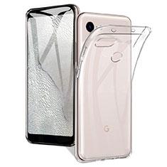 Custodia Silicone Trasparente Ultra Slim Morbida per Google Pixel 3a Chiaro