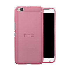 Custodia Silicone Trasparente Ultra Slim Morbida per HTC One X9 Rosa