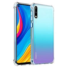 Custodia Silicone Trasparente Ultra Slim Morbida per Huawei Enjoy 10 Chiaro