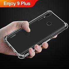 Custodia Silicone Trasparente Ultra Slim Morbida per Huawei Enjoy 9 Plus Chiaro