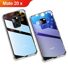 Custodia Silicone Trasparente Ultra Slim Morbida per Huawei Mate 20 X 5G Chiaro