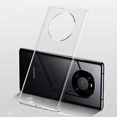 Custodia Silicone Trasparente Ultra Slim Morbida per Huawei Mate 40 Pro+ Plus Chiaro