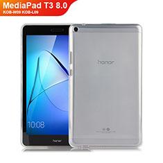 Custodia Silicone Trasparente Ultra Slim Morbida per Huawei MediaPad T3 8.0 KOB-W09 KOB-L09 Chiaro