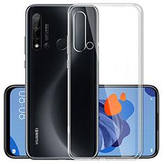 Custodia Silicone Trasparente Ultra Slim Morbida per Huawei Nova 5i Chiaro