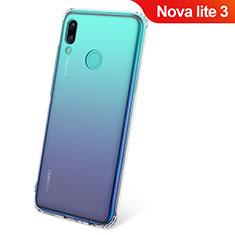 Custodia Silicone Trasparente Ultra Slim Morbida per Huawei Nova Lite 3 Chiaro
