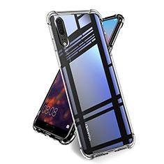 Custodia Silicone Trasparente Ultra Slim Morbida per Huawei P20 Chiaro