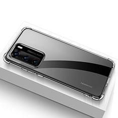 Custodia Silicone Trasparente Ultra Slim Morbida per Huawei P40 Chiaro