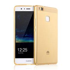 Custodia Silicone Trasparente Ultra Slim Morbida per Huawei P9 Lite Oro