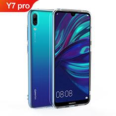 Custodia Silicone Trasparente Ultra Slim Morbida per Huawei Y7 (2019) Chiaro