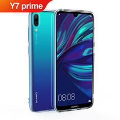Custodia Silicone Trasparente Ultra Slim Morbida per Huawei Y7 Prime (2019) Chiaro