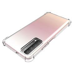 Custodia Silicone Trasparente Ultra Slim Morbida per Huawei Y7a Chiaro