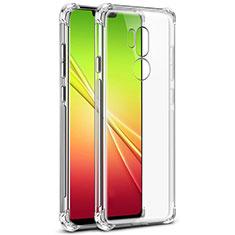 Custodia Silicone Trasparente Ultra Slim Morbida per LG G7 Chiaro