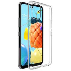 Custodia Silicone Trasparente Ultra Slim Morbida per LG Q52 Chiaro
