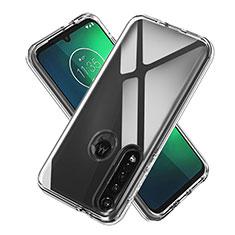 Custodia Silicone Trasparente Ultra Slim Morbida per Motorola Moto G8 Plus Chiaro