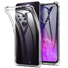 Custodia Silicone Trasparente Ultra Slim Morbida per Motorola Moto One Zoom Chiaro