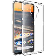 Custodia Silicone Trasparente Ultra Slim Morbida per Nokia 5.3 Chiaro
