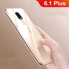Custodia Silicone Trasparente Ultra Slim Morbida per Nokia 6.1 Plus Chiaro