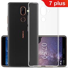 Custodia Silicone Trasparente Ultra Slim Morbida per Nokia 7 Plus Chiaro