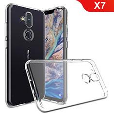Custodia Silicone Trasparente Ultra Slim Morbida per Nokia X7 Chiaro