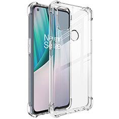 Custodia Silicone Trasparente Ultra Slim Morbida per OnePlus Nord N10 5G Chiaro