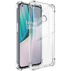 Custodia Silicone Trasparente Ultra Slim Morbida per OnePlus Nord N100 Chiaro