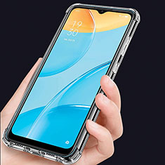 Custodia Silicone Trasparente Ultra Slim Morbida per Oppo A15 Chiaro