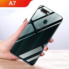 Custodia Silicone Trasparente Ultra Slim Morbida per Oppo A7 Chiaro