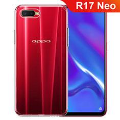 Custodia Silicone Trasparente Ultra Slim Morbida per Oppo R17 Neo Chiaro